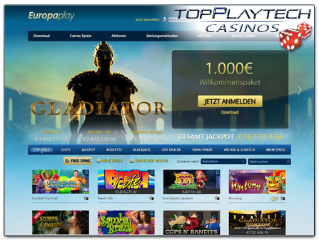 Europaplay Casino Webseite