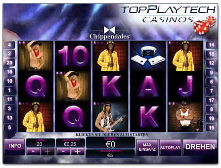 Playtech Chippendales online Slot