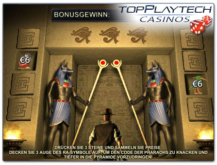 Playtech Daring Dave & the Eye of Ra Bonusspiel