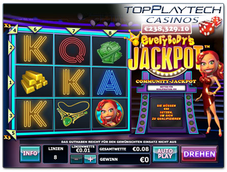 Playtech Everybody's Jackpot online Slot