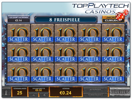 Playtech Gladiator Road to Rome Freispiele