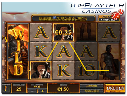 Playtech Gladiator Road to Rome Spielautomat