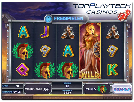 Playtech Goddess of Wisdom online Slot Freispiele