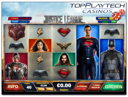 Playtech Slot Justice League