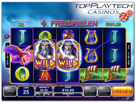 Playtech King of Olympus online Slot Freispiele