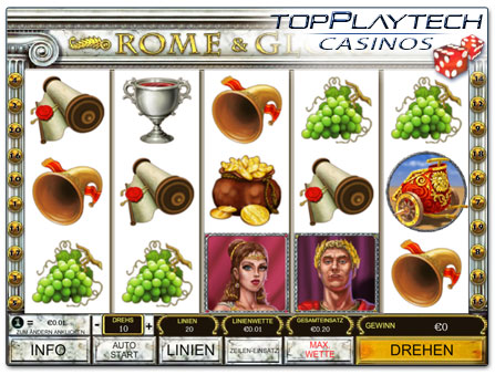 Playtech Rome & Glory online Slot
