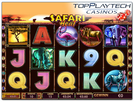 Playtech Safari Heat online Slot