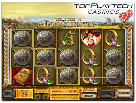 Playtech The Riches of Don Quixote Doppelsymbole